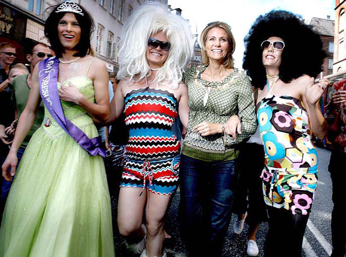 Helle Thorning ved Cph pride